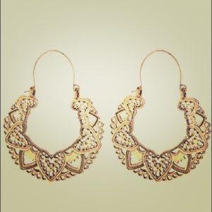 Anthropologie gold boho earrings